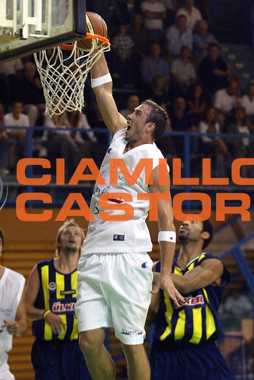 DESCRIZIONE : Bologna Precampionato Lega A1 2006-07 Vidivici Virtus Bologna Fenerbahce Ulker Istanbul <br /> GIOCATORE : Lang <br /> SQUADRA : VidiVici Virtus Bologna <br /> EVENTO : Precampionato Lega A1 2006-2007 Trofeo Quadrifoglio <br /> GARA : Vidivici Virtus Bologna Fenerbahce Ulker Istanbul <br /> DATA : 14/09/2006 <br /> CATEGORIA : Schiacciata <br /> SPORT : Pallacanestro <br /> AUTORE : Agenzia Ciamillo-Castoria/L.Villani <br /> Galleria : Lega Basket A1 2006-2007 <br /> Fotonotizia : Bologna Precampionato Italiano Lega A1 2006-2007 Trofeo Quadrifoglio Vita Vidivici Bologna-Fenerbahce Istanbul <br /> Predefinita : si