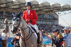 Kraut Laura, USA, Zeremonie<br /> Tryon - FEI World Equestrian Games™ 2018<br /> 2. Qualifikation Teamwertung 2. Runde<br /> 21. September 2018<br /> © www.sportfotos-lafrentz.de/Sharon Vandeput