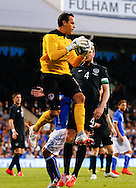 David Forde of Republic of Ireland collects the ball during the International Friendly match at Craven Cottage, London<br /> Picture by David Horn/Focus Images Ltd +44 7545 970036<br /> 31/05/2014