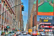 Manhattan, New York City, Midtown, Buildings, Traffic