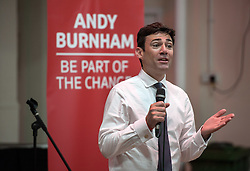 © Licensed to London News Pictures. 04/07/2015. Bristol, UK.  ANDY BURNHAM MP, one of the candidates for the Labour Party leadership election, speaks and answers questions from the audience at the Trinity Centre in Bristol.  Photo credit : Simon Chapman/LNP