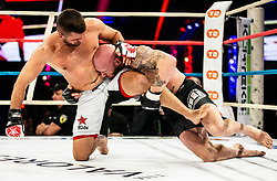 Bojan Kosednar - Zelva of Slovenia (R) in action against  Slavoljub Mitić of Serbia during their CFC welterweight Title fight at CFC 5 Fighting event, on October 6, 2019 in Arena Stozice, Ljubljana, Slovenia. Photo by Vid Ponikvar / Sportida