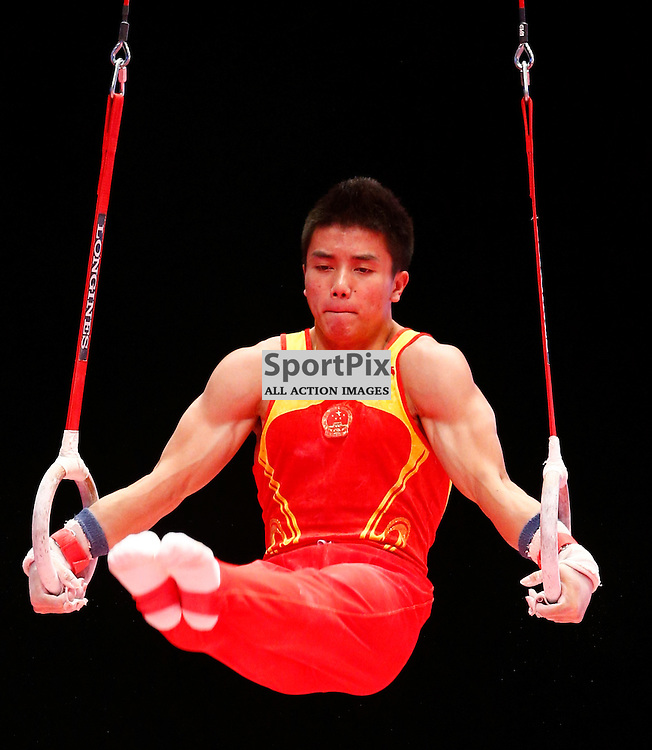 2015 Artistic Gymnastics World Championships being held in Glasgow from 23rd October to 1st November 2015.....Chaopan Lin (Peoples Republic of China) competing in the Still Rings competition..(c) STEPHEN LAWSON | SportPix.org.uk