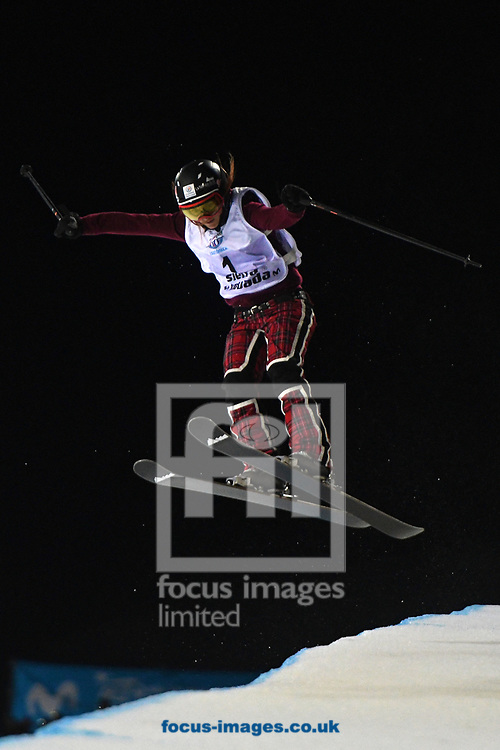Marie Martinod (FRA) during the Women's Half Pipe Final on Day Eleven of the FIS Freestyle Ski &amp; Snowboard World Championships 2017 at Sierra Nevada Ski Station, Granada<br /> Picture by Kristian Kane/Focus Images Ltd +44 7814 482222<br /> 18/03/2017