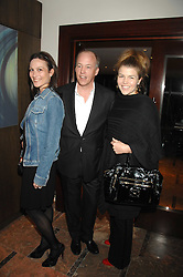 Left to right, HARRY & DALIT NUTTAL and his sister AMBER AIKENS at a party to celebrate the publication of Lisa B's book 'Lifestyle Essentials' held at the Cook Book Cafe, Intercontinental Hotel, Park Lane London on 10th April 2008.<br />