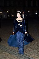 01.01.2016. Copenhagen, Denmark. <br /> Crown Princess Mary&rsquo;s arrival to Amalienborg Palace for the traditional gala dinner with the Danish government officials, civil servants, and members/employees of the royal court. <br /> Photo: &copy; Ricardo Ramirez