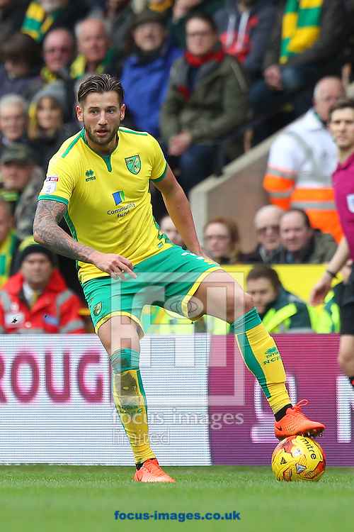 Mitchell Dijks of Norwich in action during the Sky Bet Championship match at Carrow Road, Norwich<br /> Picture by Paul Chesterton/Focus Images Ltd +44 7904 640267<br /> 26/02/2017