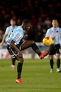 Shrewsbury Town FC midfielder Sullay Kaikai controls the ball during the Sky Bet League 1 match between Peterborough United and Shrewsbury Town at the ABAX Stadium, Peterborough, England on 12 December 2015. Photo by Aaron Lupton.