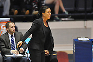 """Ole Miss vs. Georgia Tech Yellow Jackets head coach MaChelle Joseph in the WNIT at the C.M. """"Tad"""" Smith Coliseum in Oxford, Miss. on Sunday, March 22, 2015. Ole Miss won 63-48.(AP Photo/Oxford Eagle, Bruce Newman)"""