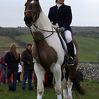 Suzanne Arthur and Rooney at the annual point to point meeting at Belhabour on Sunday.<br /><br />Photograph by Yvonne Vaughan.