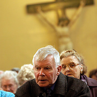 Archbishop Mario Conti leads a mass for the new Pope at the St. Andrews Cathedral, Glasgow.