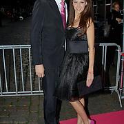 NLD/Amsterdam/20100929 - Pink Ribbon Gala 2010, Lange Frans en partner Daniëlle van Aalderen