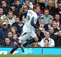Photo: Ed Godden.<br />Chelsea v West Ham United. The Barclays Premiership. 09/04/2006. James Collins celebrates his goal for West Ham.