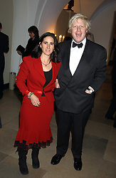 BORIS JOHNSON MP and his wife MARINA at a dinner attended by the Conservative leader Michael Howard and David Davis and David Cameron held at the Banqueting Hall, Whitehall, London on 29th November 2005.<br /><br />NON EXCLUSIVE - WORLD RIGHTS