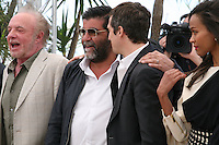James Caan, and Director Guillaume Canet, Producer Alain Attal, Actress Zoé Saldana, at the Blood Ties film photocall at the Cannes Film Festival Monday 20th May 2013