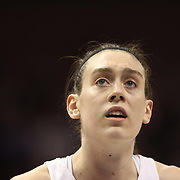 Breanna Stewart, UConn, in action during the UConn Huskies Vs USF Bulls Basketball Final game at the American Athletic Conference Women's College Basketball Championships 2015 at Mohegan Sun Arena, Uncasville, Connecticut, USA. 9th March 2015. Photo Tim Clayton