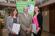 Rebecca Lacey, Professor Tony Butterworth & Rachel Bevan at the Foundation of Nursing Studies Celebrating Innovation and Excellence held on 07 June 2016 1800-2000. <br /> <br /> Celebrating and sharing the innovative nurse-led work that makes health and social care excellent.<br /> <br /> In the presence of  Professor Tony Butterworth CBE, Chair of Trustees, FoNS and Dr Theresa Shaw, Chief Executive of FoNS Professor and Jane Cummings, Chief Nursing Officer, NHS England along with invited guests.<br /> <br /> Richard Tompkins Nurse Development Scholarships awarded to Rachel Bevan & Rebecca Lacey. <br /> <br /> Best Poster 'Person-centred Paediatric Care: Capturing the Experience and Collaborating for the Future' by Ruth Magowan, Ann Chalmers, Tracey Millin and Chrissie Smith