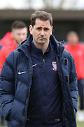 Jackie McNamara Manager of York City FC prior the Sky Bet League 2 match between AFC Wimbledon and York City at the Cherry Red Records Stadium, Kingston, England on 19 March 2016. Photo by Stuart Butcher.