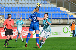 Zala Kustrin of Slovenia during women football match between National teams of Slovenia and Iceland in 2019 FIFA Women's World Cup qualification, on April 06, 2018 in Sportni park Lendava, Lendava, Slovenia. Photo by Mario Horvat / Sportida