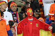 JOHANNESBURG, SOUTH AFRICA- Sunday 11 July 2010, a Spanish fan during the final between Spain The Netherlands (Holland) held at Soccer City in Soweto during the 2010 FIFA Soccer World Cup..Photo by Roger Sedres/Image SA