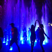 Dancing and cooling off in the fountains at Osheaga 2016