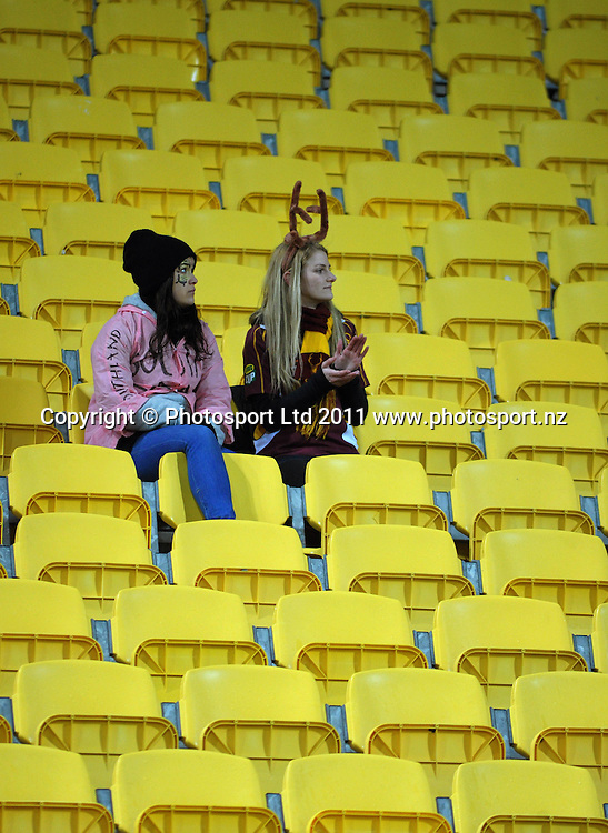 Southland fans. ITM Cup rugby union - Wellington Lions v Southland Stags at Westpac Stadium, Wellington, New Zealand on Thursday, 18 August 2011. Photo: Dave Lintott / photosport.co.nz