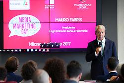 MAURO FABRIS PRESIDENTE LEGA PALLAVOLO SERIE A FEMMINILE<br /> LVF MEDIA MARKETING DAY 2017<br /> MILANO 04-10-2017<br /> FOTO FILIPPO RUBIN / LVF