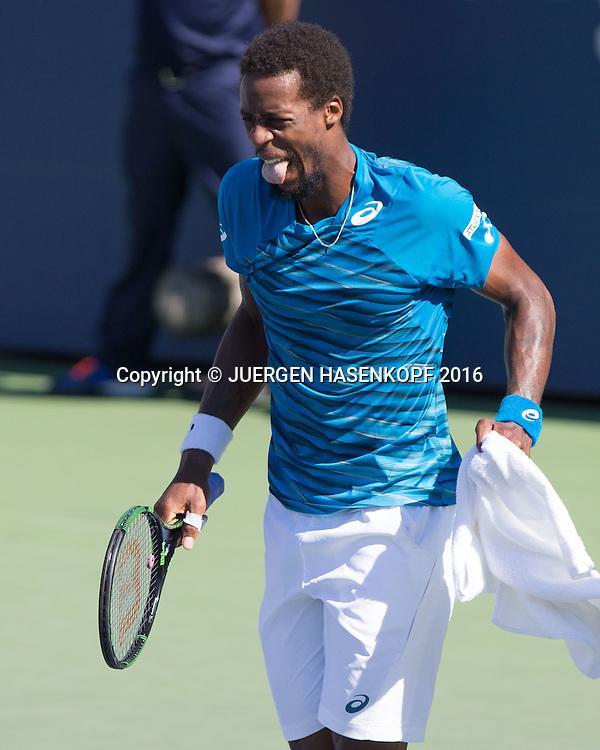 GAEL MONFILS (FRA) reagiert nach seinem Sturz<br /> <br /> Tennis - US Open 2016 - Grand Slam ITF / ATP / WTA -  Flushing Meadows - New York - New York - USA  - 29 August 2016.