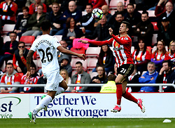 Javi Manquillo of Sunderland controls the ball - Mandatory by-line: Robbie Stephenson/JMP - 13/05/2017 - FOOTBALL - Stadium of Light - Sunderland, England - Sunderland v Swansea City - Premier League