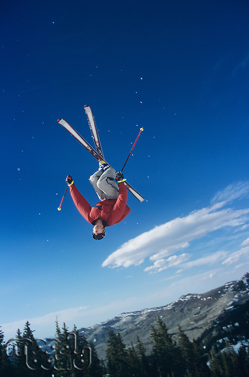 Person on skis jumping