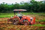 With the onset of the rainy season and several wet days, which has softened up the land, it is time to till the fields and prepare them for planting. I'm still amazed at how much has changed in the 4+ years I have been documenting this process. For the most part the hand tractors are not used here now, instead a bright orange modern tractor does the work that use to take several days, in just a few hours.