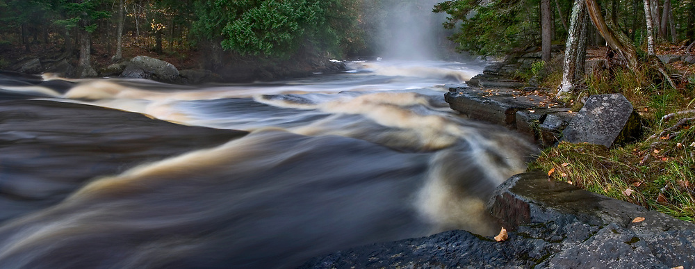 Rushing Water On The Sturgeon River In Michigan's Upper Peninsula, USA
