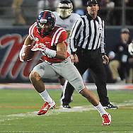 Ole Miss Rebels tight end Evan Engram (17) makes a catch against. Mississippi State at Vaught-Hemingway Stadium in Oxford, Miss. on Saturday, November 29, 2014. Ole Miss won 31-17.