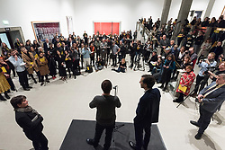 © Licensed to London News Pictures. 24/01/2018. London, UK. German photographer ANDREAS GURSKY attends his the first major UK retrospective at The Haywood gallery which also celebrates 50th anniversary following its two year refurbishment. Photo credit: Ray Tang/LNP