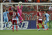FRISCO, TX - JUNE 22:  Jimmy Nielsen #1 of Sporting Kansas City makes a save against FC Dallas on June 22, 2013 at FC Dallas Stadium in Frisco, Texas.  (Photo by Cooper Neill/Getty Images) *** Local Caption *** Jimmy Nielsen