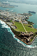 Aerial view of Old San Juan, Puerto Rico