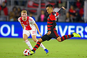 Flamengo midfielder Fernando Uribe (20) in action during a Florida Cup match at Orlando City Stadium on Jan. 10, 2019 in Orlando, Florida. <br /> Flamengo won in penalties 4-3.<br /> <br /> ©2019 Scott A. Miller