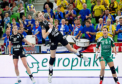 Susann Mueller of Krim during handball match between RK Krim Mercator and Gyori Audi ETO KC (HUN) in 3rd Round of Group B of EHF Women's Champions League 2012/13 on October 28, 2012 in Arena Stozice, Ljubljana, Slovenia. (Photo By Vid Ponikvar / Sportida)