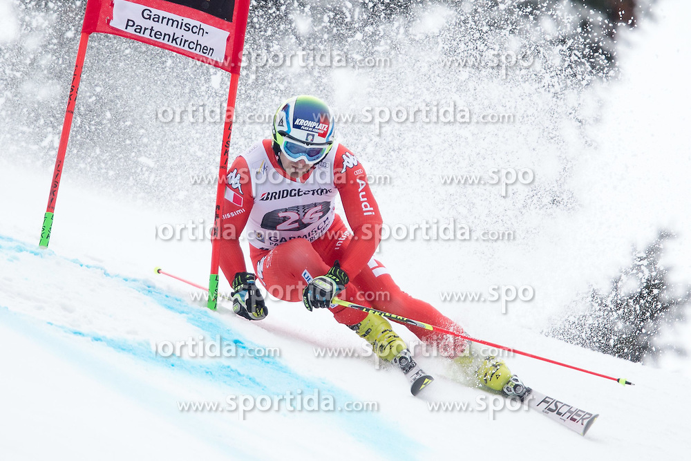 01.03.2015, Kandahar, Garmisch Partenkirchen, GER, FIS Weltcup Ski Alpin, Riesenslalom, Herren, 1. Lauf, im Bild Giovanni Borsotti (ITA) // Giovanni Borsotti of Italy in action during 1st run for the men's Giant Slalom of the FIS Ski Alpine World Cup at the Kandahar course, Garmisch Partenkirchen, Germany on 2015/03/01. EXPA Pictures © 2015, PhotoCredit: EXPA/ Johann Groder