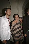 Alasdair Willis and  Stella McCartney, VIP opening of Bill Viola exhibition Love/Death: The Tristan project. Haunch of Venison, St Olave's College, Tooley St. London and Dinner afterwards at Banqueting House. Whitehall. 19 June 2006. ONE TIME USE ONLY - DO NOT ARCHIVE  © Copyright Photograph by Dafydd Jones 66 Stockwell Park Rd. London SW9 0DA Tel 020 7733 0108 www.dafjones.com