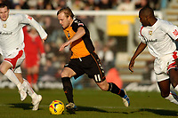 Photo: Leigh Quinnell.<br /> Milton Keynes Dons v Barnet. Coca Cola League 2. 20/01/2007. Barnets Richard Graham runs for goal.