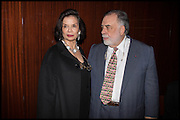 BIANCA JAGGER; FRANCIS FORD COPPOLA, Liberatum Cultural Honour for Francis Ford Coppola<br /> with Bulgari Hotel & Residences, London. 17 November 2014