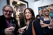 ( SIR?) HUGH THOMPSON; NATASHA TAYLOR, HELMUT NEWTON EXHIBITION, Hamiltons,  London. 12 May 2009