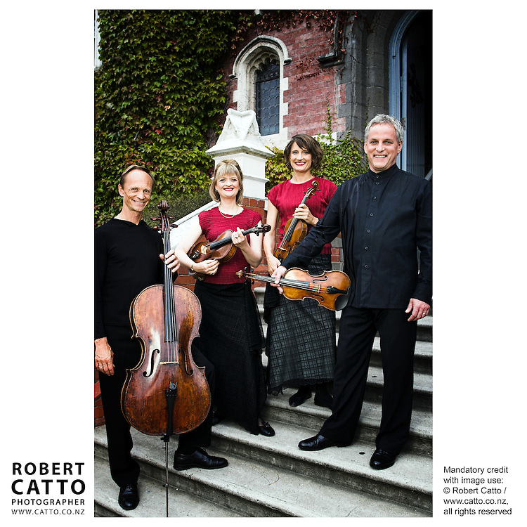 Rolf Gjelsten;Gillian Ansell;Helene Pohl;Douglas Beilman (New Zealand String Quartet)  at Victoria University, Wellington, New Zealand.