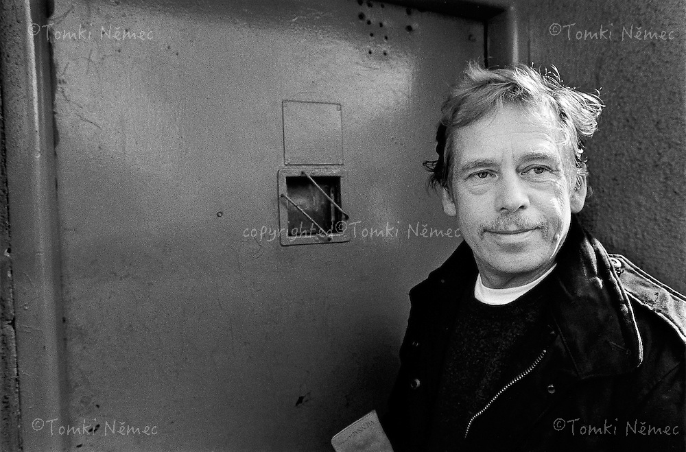 Prague, 17 March 1990 - Ruzyne.An unplanned stop ('ambush') at Ruzyni Prison, where Vaclav Havel had been imprisoned..