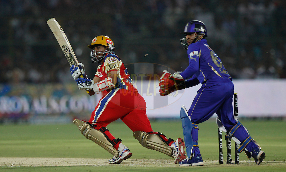Royal Challengers Bangalore player Tillakaratne Dilshan play a shot during match 30 of the the Indian Premier League ( IPL) 2012  between The Rajasthan Royals and the Royal Challengers Bangalore held at the Sawai Mansingh Stadium in Jaipur on the 23rd April 2012..Photo by Pankaj Nangia/IPL/SPORTZPICS