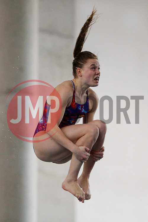 Kayleigh Sinclair of Plymouth Diving competes in the Womens 3m Springboard Final - Photo mandatory by-line: Rogan Thomson/JMP - 07966 386802 - 22/02/2015 - SPORT - DIVING - Plymouth Life Centre, England - Day 3 - British Gas Diving Championships 2015.