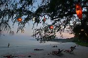 Ao Hin Khok. Lampions in a beach restaurant.