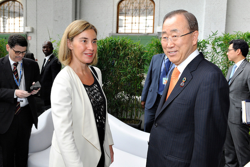 20160615 - Brussels , Belgium - 2016 June 15th - European Development Days - Opening Ceremony - Federica Mogherini - High Representative of the European Union for Foreign Affairs and Security Policy and Vice-President of the European Commission - Ban Ki-Moon - Nations © European Union
