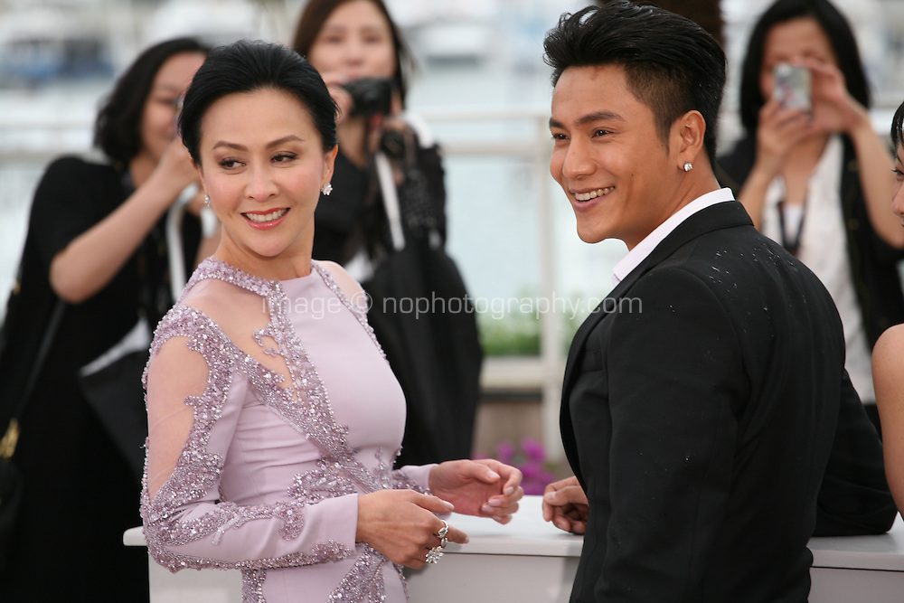 Actress Carina Lau and actor Kun Chen at the Bends film photocall at the Cannes Film Festival 18th May 2013